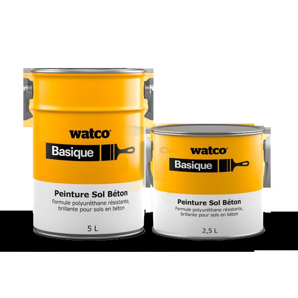 Photo de deux bidons Peinture Sol Béton Watco Basique