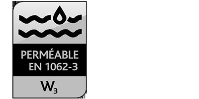 Icone Perméable EN 1062-3 : W3