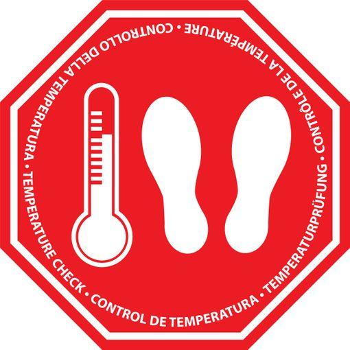 Sticker Vérification de la température