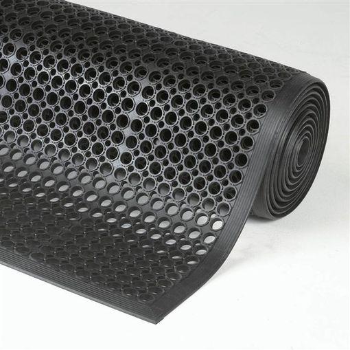 Tapis Anti Fatigue Drainant Noir 91 Cm X 297 Cm Watco