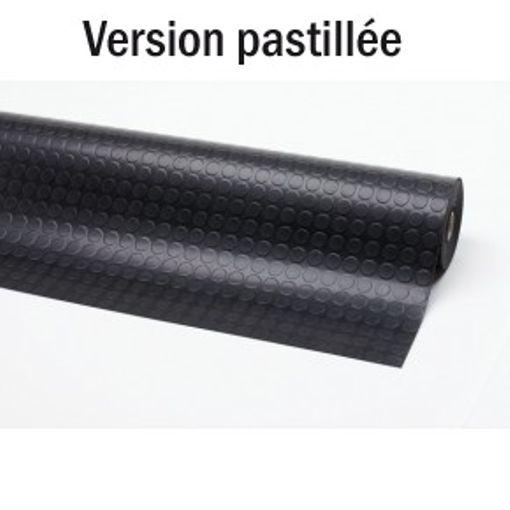 Revêtement Caoutchouc Pastillé Noir 10 m x 100 cm x 4 mm